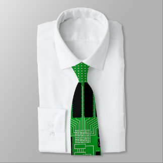 Green circuit board tie