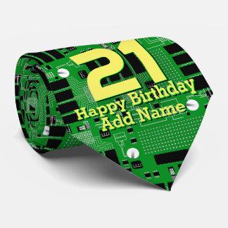 Green circuit board tie