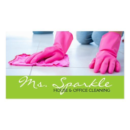 Green Clean House Home Cleaning Cleaners Business Business Card