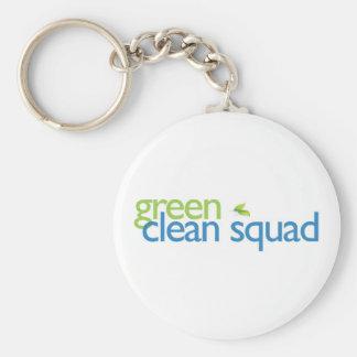 Green Clean Squad keychain