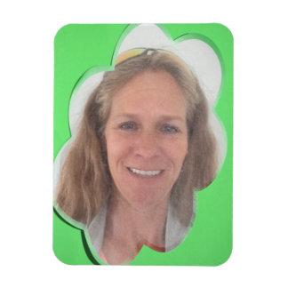 Green Cloud Photo Frame Rectangular Photo Magnet