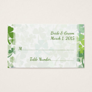 Green Clover All Over Wedding Place Cards