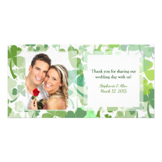 Green Clover All OverWedding Thank You Photo Cards