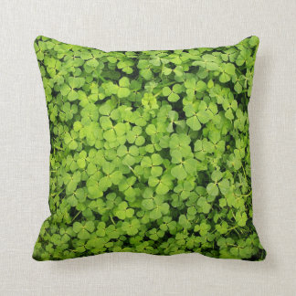 Green Clover Field Pillow