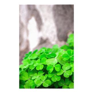 Green Clover Irish Sign Stationery Paper
