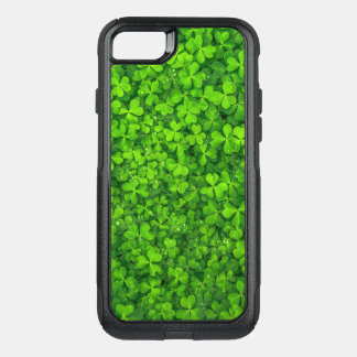 Green Clover Leaves with Water Drops OtterBox Commuter iPhone 8/7 Case