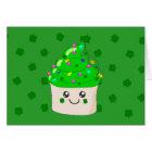 Green Clover St Patricks Day Cute Cupcake Card