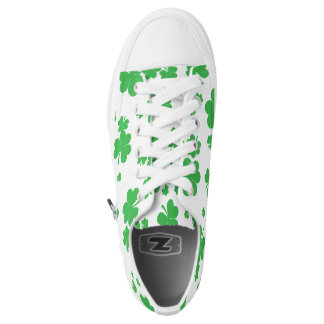 Green clover St. Patrick's Day Irish sneakers