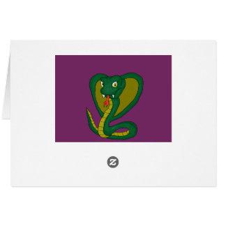 Green Cobra Note Card