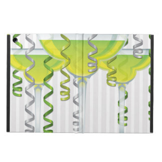 Green cocktail and ribbon iPad air covers