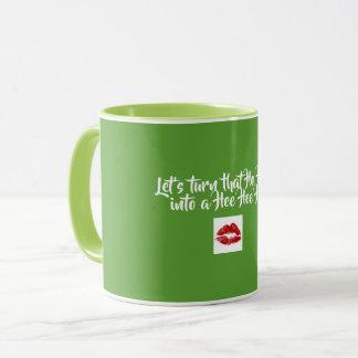 Green Coffee Mug, Ho Ho Ho Mug