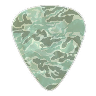 Green color camouflage pattern pearl celluloid guitar pick