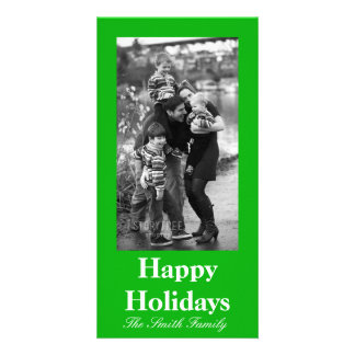 Green Color Customizable Personalised Photo Card