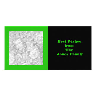 green color greeting picture card