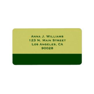 green color address label
