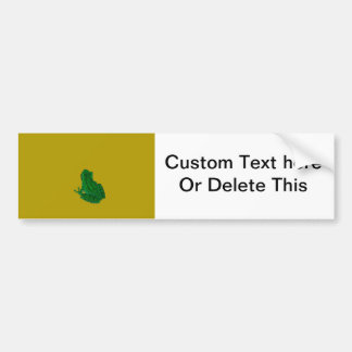 Green colorzed frog against yellow look up bumper stickers