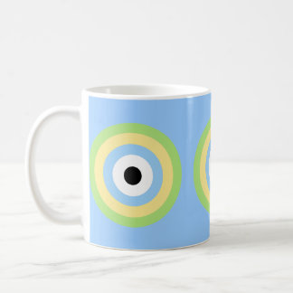 Green Combination Bullseye by Shirley Taylor Coffee Mug
