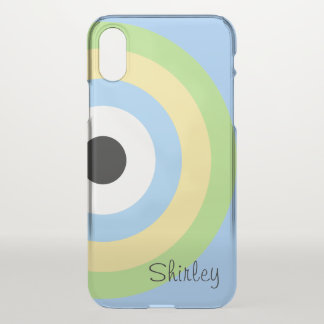 Green Combination Bullseye by Shirley Taylor iPhone X Case