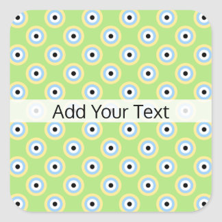 Green Combination Circles by Shirley Taylor Square Sticker