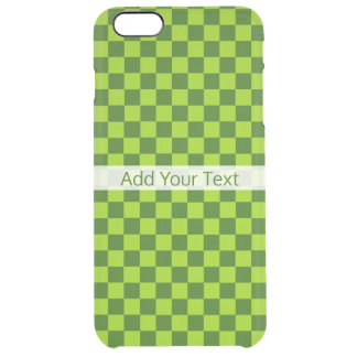 Green Combination Classic Checkerboard by STaylor Clear iPhone 6 Plus Case