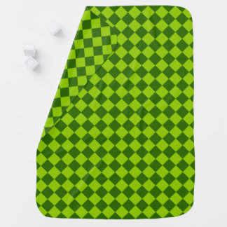 Green Combination Diamond Pattern by STaylor Baby Blanket