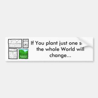 Green Comic Bumper Sticker
