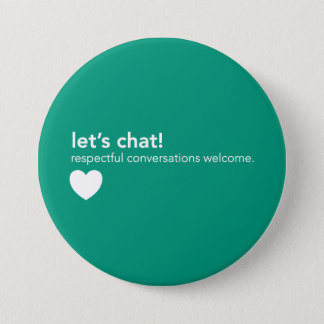 Green Communication Pin - Let's Chat