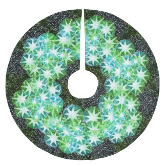 Green Compass Gemstone Rhinestone Glitter Sparkle Brushed Polyester Tree Skirt