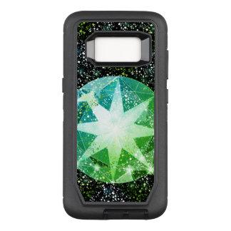 Green Compass Gemstone Rhinestone Gold Sparkle OtterBox Defender Samsung Galaxy S8 Case