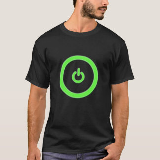 Green Computer Power Button Shirt
