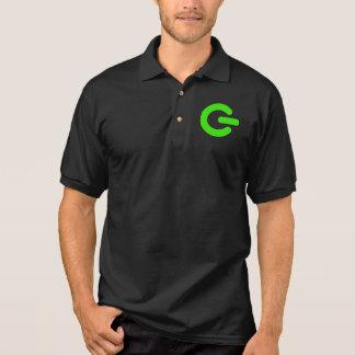 Green Computer Power Light Geek Polo Shirt