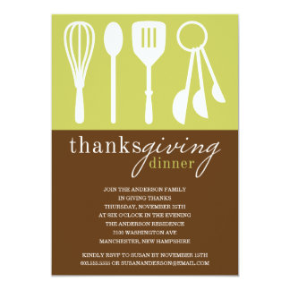 GREEN COOKING | THANKSGIVING DINNER INVITE