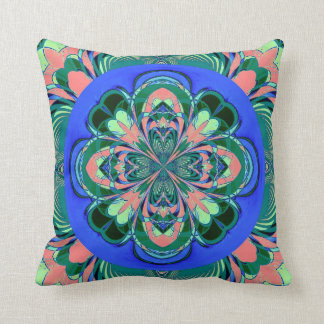 Green Coral Flower American MoJo Pillow