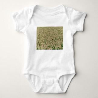 Green corn maize field in early stage baby bodysuit