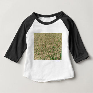 Green corn maize field in early stage baby T-Shirt