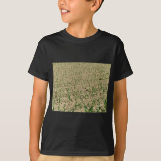 Green corn maize field in early stage T-Shirt