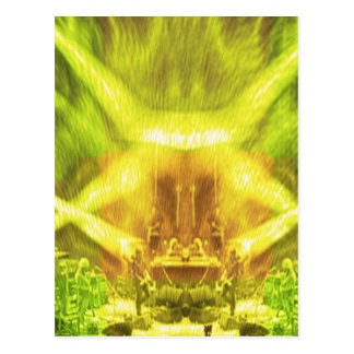 Green Cosmic Conference Postcard