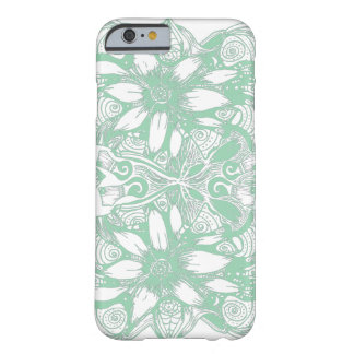 Green Cosmic Flower Explosion iPhone 6 Case