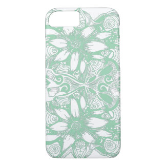 Green Cosmic Flower Explosion iPhone 7 Case