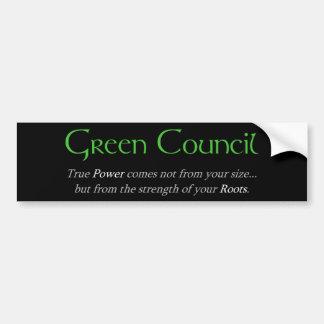 Green Council Bumper Sticker