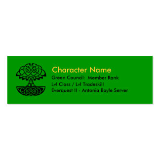 Green Council Member Cards Pack Of Skinny Business Cards
