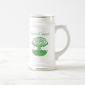 Green Council Stein Beer Steins