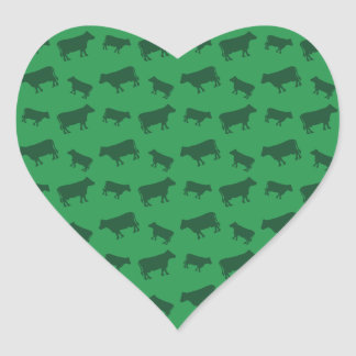 Green cow pattern sticker