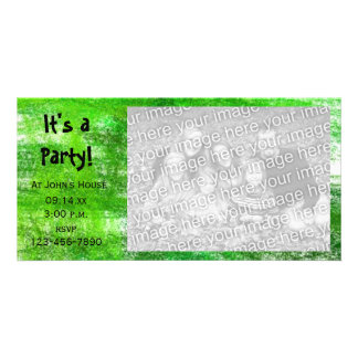 Green Crayon Scribbles Party Invitation Photo Card