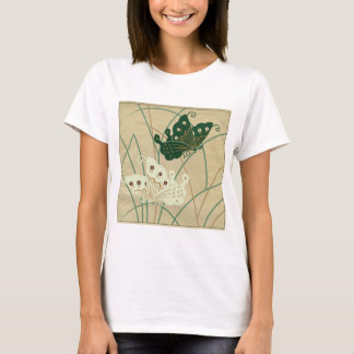 Green/Cream Butterflies T-Shirt