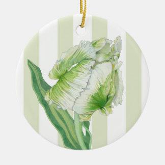 Green Cream Tulip Ornament