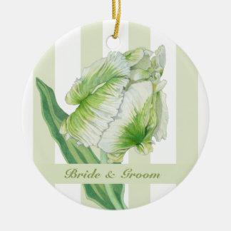 Green cream Tulip Wedding Ornament