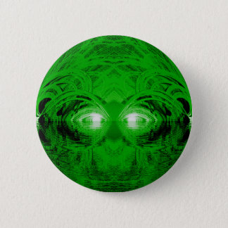 Green Creature of the Lake 6 Cm Round Badge