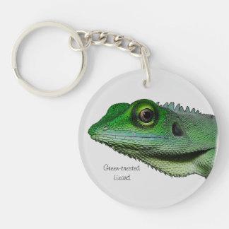 Green-crested Lizard Acrylic Key Chain