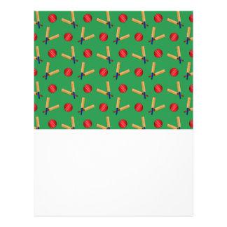 green cricket pattern 21.5 cm x 28 cm flyer